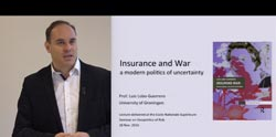 Insurance and war a modern politics of uncertainty