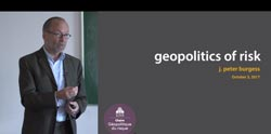 What is the geopolitics of risk